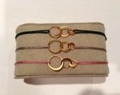 Small 3 Ring Adjustable Bracelet