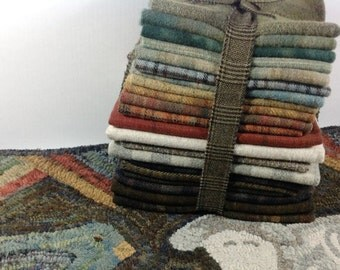 WOOL PACK only, for Primitive Rug Hooking and Applique, WP214, Rug Hooking Wool Pack, Applique Wool Pack