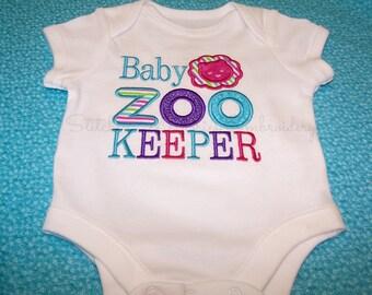 Baby Zoo Keeper bodysuit for baby girl