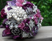 Brooch and Jeweled Bouquet on Hydrangea for Jocelyn