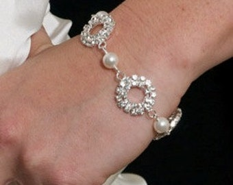Wedding Bracelet, Rhinestone Bridal Bracelet, Wedding Jewelry, Bridesmaids Jewelry, Bridesmaids Bracelet