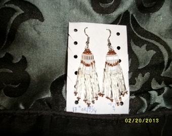 Silver n Brown Earrings