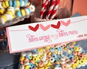 Printable Valentine's Day Treat Bag Topper - Pink and Red Polka Dot Heart Bunting