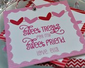 Valentine's Day Treat Bag Tags Toppers, Candy Bag Tags - Choose Your Pattern - Printable File, Digital File, PDF