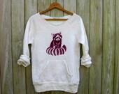 snuggle time Red Panda Shirt, Raccoon Shirt, Cute Sweater, Soft Pullover, S,M,L,XL