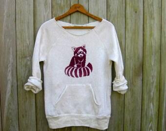 snuggle time Red Panda Shirt, Raccoon Shirt, Cute Sweater, Soft Pullover, S,M,L,XL,2XL