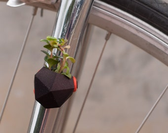 Geometric Bike Planter, in Black: Wearable Planter