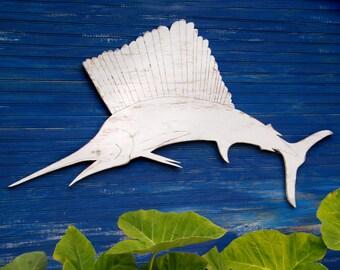 SailFish Wall Decor Beach Decor Coastal Ocean Big Fish Oversized Sail Fish Sign