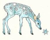 Snow Deer 4 x 6 Notecard