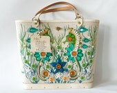 RESERVED - MINT Vintage Enid Collins Sea Garden II Tote with Tag