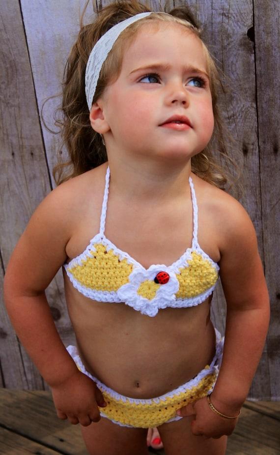 Bikini Ladybug Daisy Beach Baby Bikini Only Newborn To