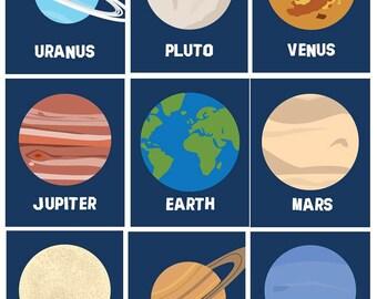 Solar System Planets Wall Decor  Planets Wall Art Prints