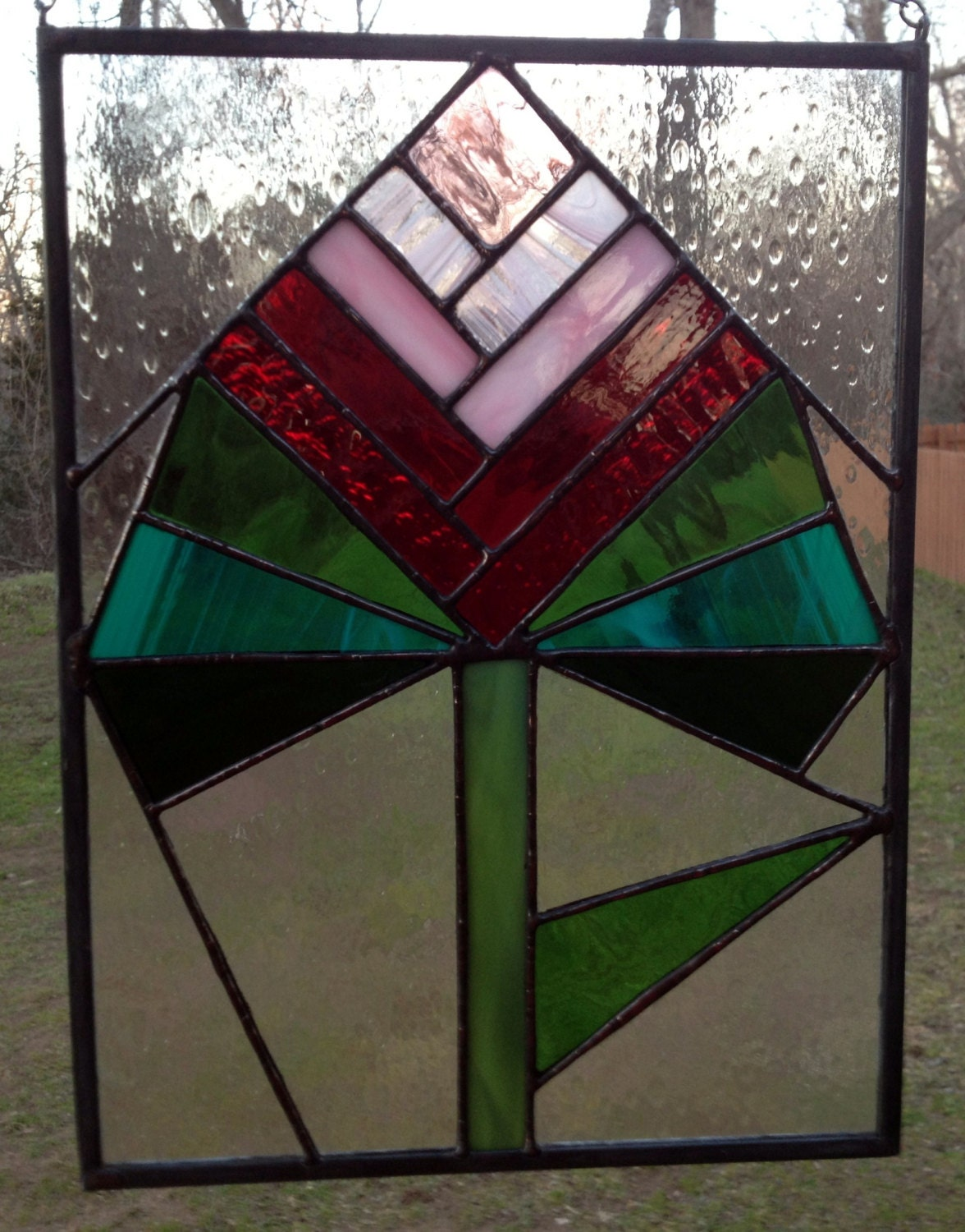 Lighting for Contemporary stained glass