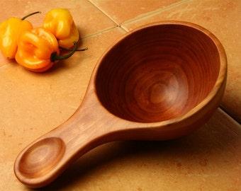 Handmade wooden spoon 1 cup measure measuring spoon of Cherry wood