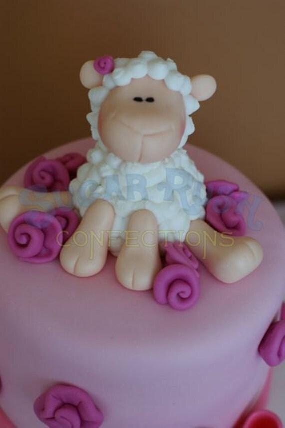 Fondant Lamb Cake Topper