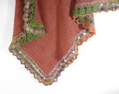 Knitted Baby Blanket - Brown