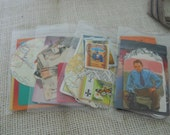 One Tiny Packet of 15 Vintage Ephemera one dollar sale