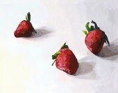 "food art - fruit print - ""Strawberries 2"" - ElizabethMayville"