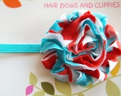 DR SEUSS Inspired Frayed Chiffon Flower Headband Babies Toddlers Girls
