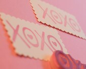 XOXO Hand Carved Rubber Stamp Love and Kisses Stamp for Handmade Cards Stationary Gift Tags Valentine Wedding Engagement