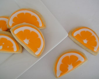 Orange Slice Iced Sugar Cookies (2 Dozen)