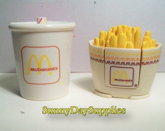McDonalds Happy Meal Toys- Changeables, Transformers, French Fries and Soft Drink ,  2 in lot, McDonalds Food Toys, Gifts for kids, Dinosaur
