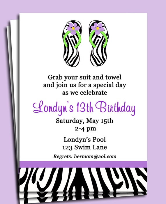 free printable pool party invitations – gangcraft, Birthday invitations