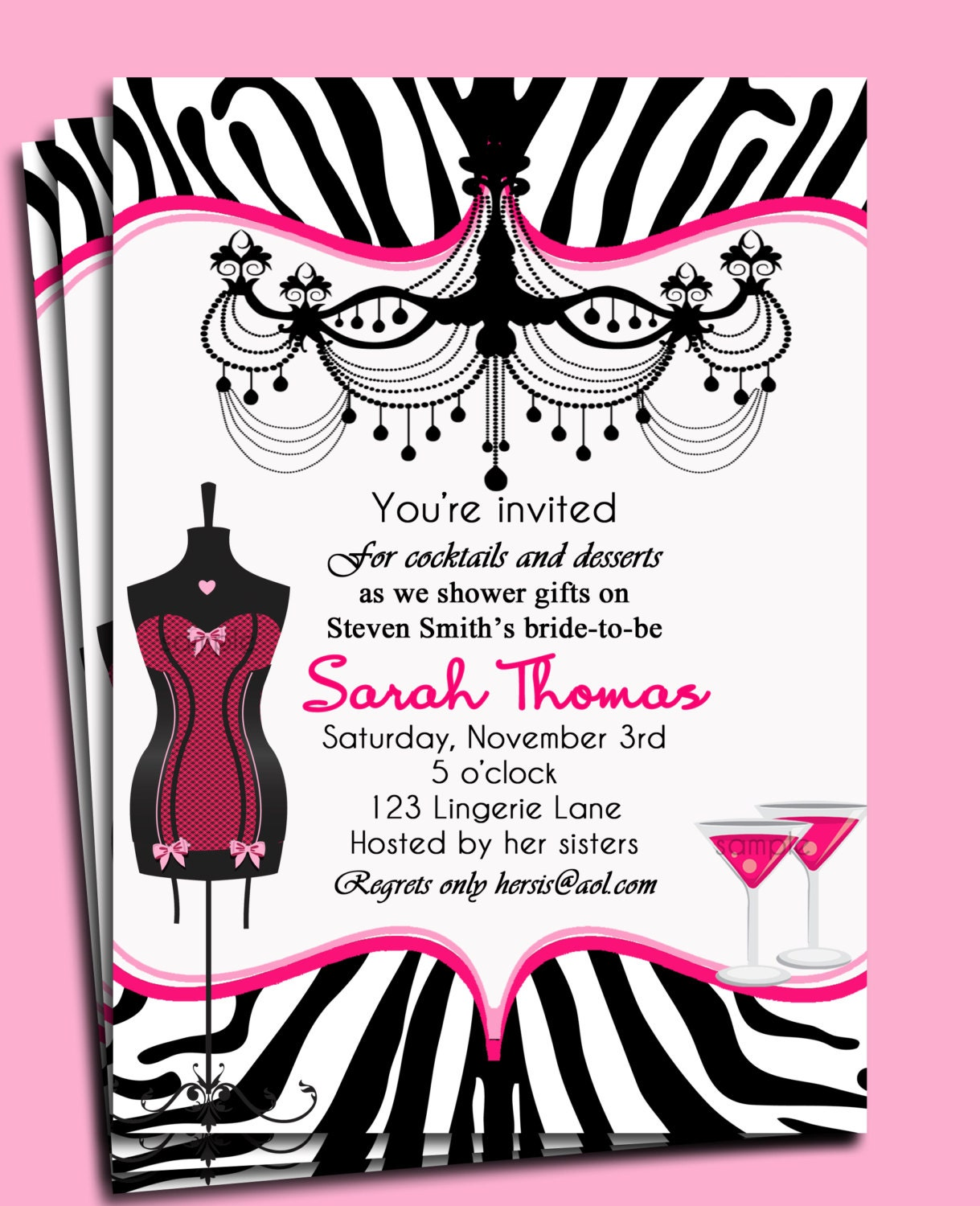 Bridal Shower Invitation Bachelorette Party Invitation – Invitation Bachelorette Party