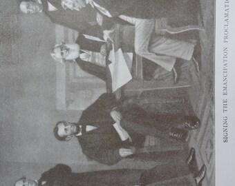 Original 1911 Vintage sepia ephemera for collage - altered art or framing