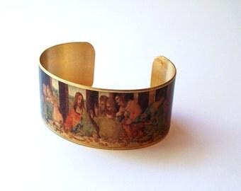Da Vinici Last Supper painting cuff bracelet