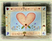 E PATTERN - Life's Treasures - Year Round Plaque listing some of life's treasures - Design by Terrye French, Painted by Sharon Bond - FAAP