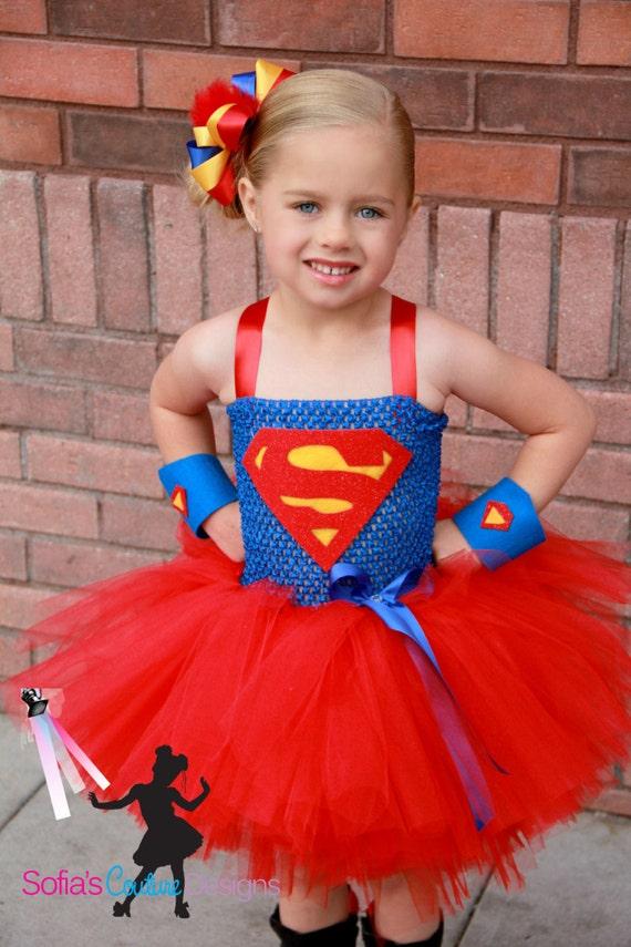 Super girl superhero tutu dress and costume - Image super heros fille ...