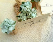 DIY Flowers only - Place Card Holders, Menus, Place Cards, Stationary, Flower Balls, Wedding Decorations, succulents, mint green