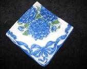 Vintage Hankie Hanky Handkerchief Floral Flowers         3059