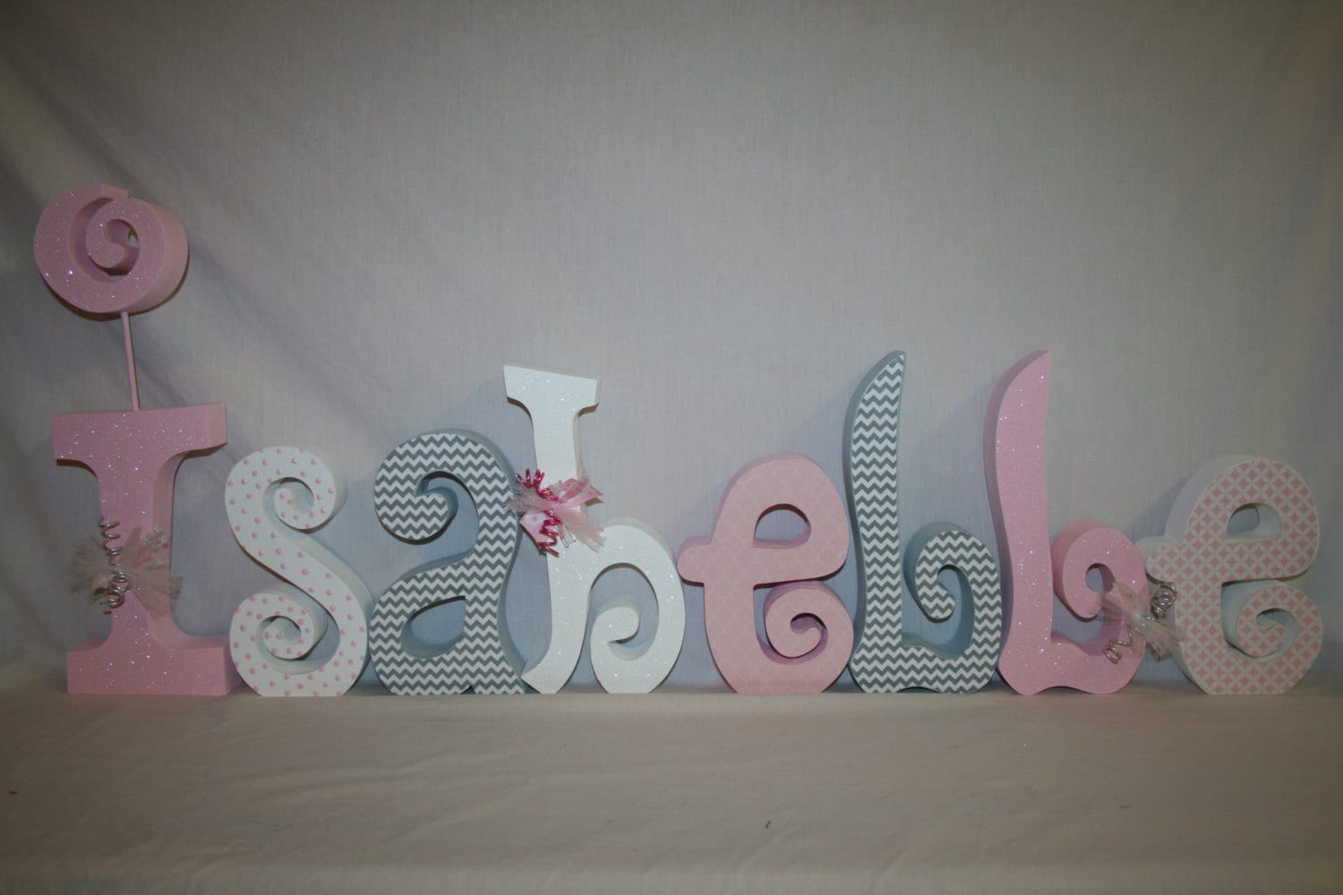Custom Wood Letters Name Sign Nursery Decor 8 Letter Set
