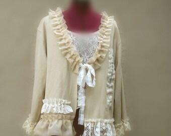 Bohemian Bolero Gypsy Wedding Cape Jacket Ethical Fashion