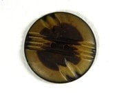 Unusual vintage brown button