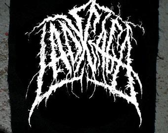 LADY GAGA screenprinted fan art grindcore black metal patch