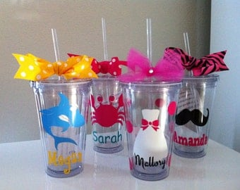 Bridal Tumblers - Destination Wedding - Beach Wedding - Personalized Tumblers - Nautical Tumblers - Sea Life