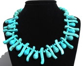 Waves of Tear Drops Turquoise Necklace