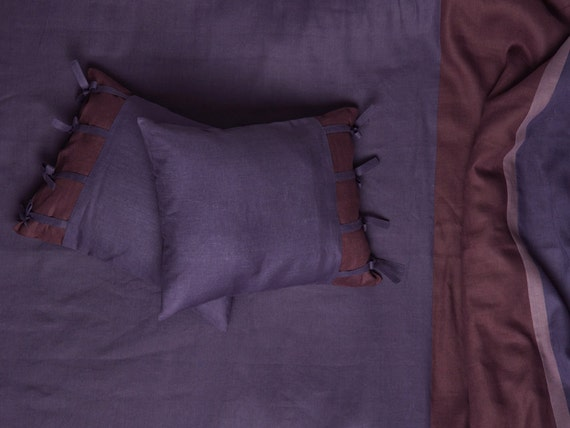 Linen bed sheets King size Twin sheets Double or Queen Fitted, flat sheet and pillowcases My Purple Provence Dream