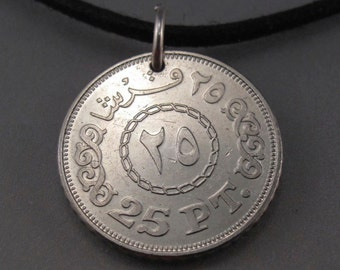 EGYPT  pendant.  Egypt charm . Egypt coin jewelry.  egyptian jewelry. Egyptian coin.. casablanca.. mans necklace.  mens jewelry NO.001505