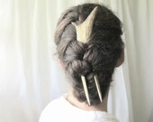 Elk Hair Fork Comb -ACUTUS- Antler Bone Horn Hair Stick Unusual Accessory