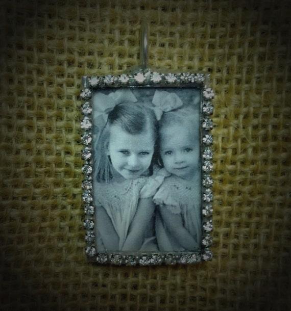 Rhinestone Photo Necklace