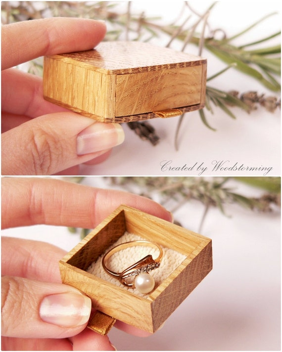 Reserved for laurie engagement ring box slim elegant for Slim engagement ring box