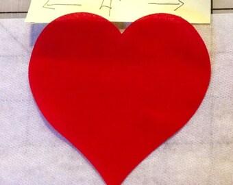 """Fusible die cut Appliqué Hearts (4"""")"""