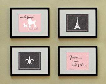 Poodle Chic Blush Pink: Set of (4) 8x10 Prints, BUY 3 GET 1 FREE