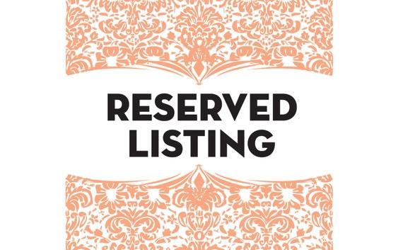 Reserved Listing - Shamika