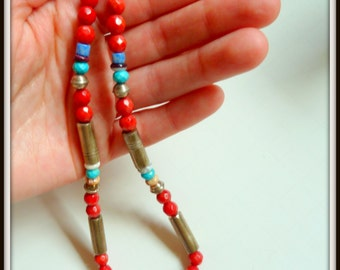 Tommy Singer's Native American Pueblo Coral Necklace