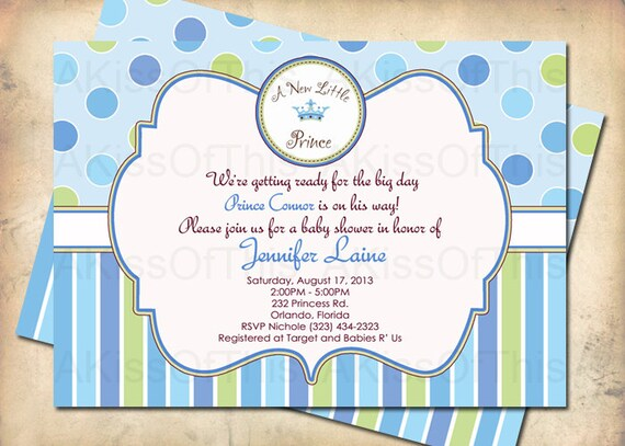 new little prince baby shower invitation prince shower invite